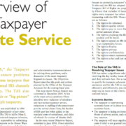 New Jersey CPA Magazine: Overview of the Taxpayer Advocate Service
