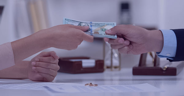 Alimony Payment Deduction Hands Exchanging Money