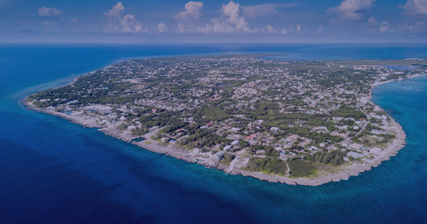 Ariel View of the Cayman Islands, where the Private Funds Law 2020 has been enacted