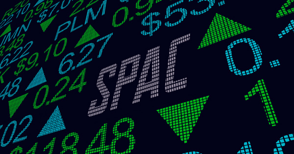 Special Purpose Acquisition Companies on Digital Stock Market Ticker