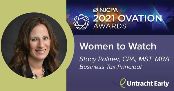 Headshot of Stacy Palmer, 2021 NJCPA Women to Watch Ovation Award Winner 2021